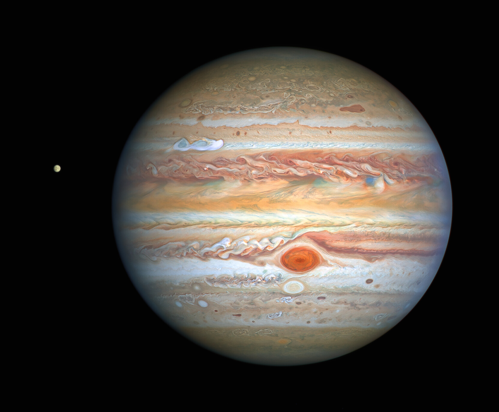 Hubble captures new image of Jupiter and Europa